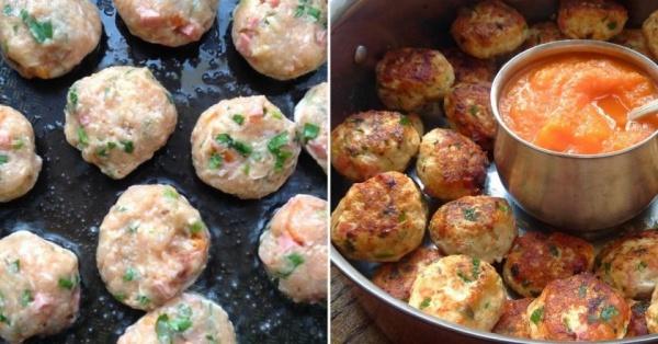 Котлетки из фарша индейки с салями и сыром - вкусный рецепт