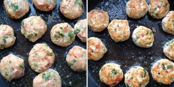 Котлеты из индейки с салями и сыром - вкусный рецепт